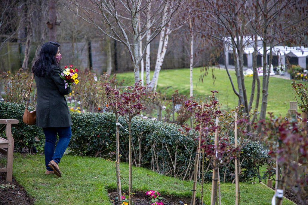 Kemnal Park Chislehurst Kent Rose Garden ashes memorial